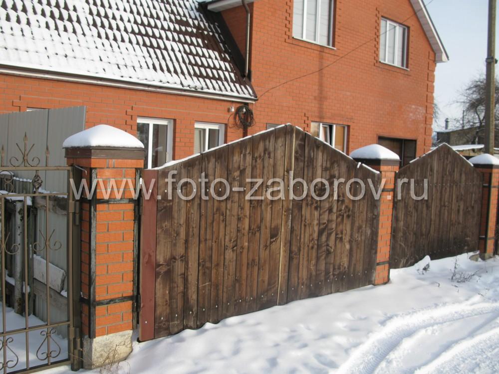 Деревянные ворота своими