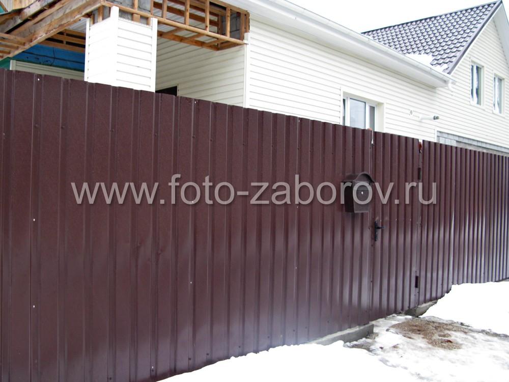 Ограда из профлиста с низкой