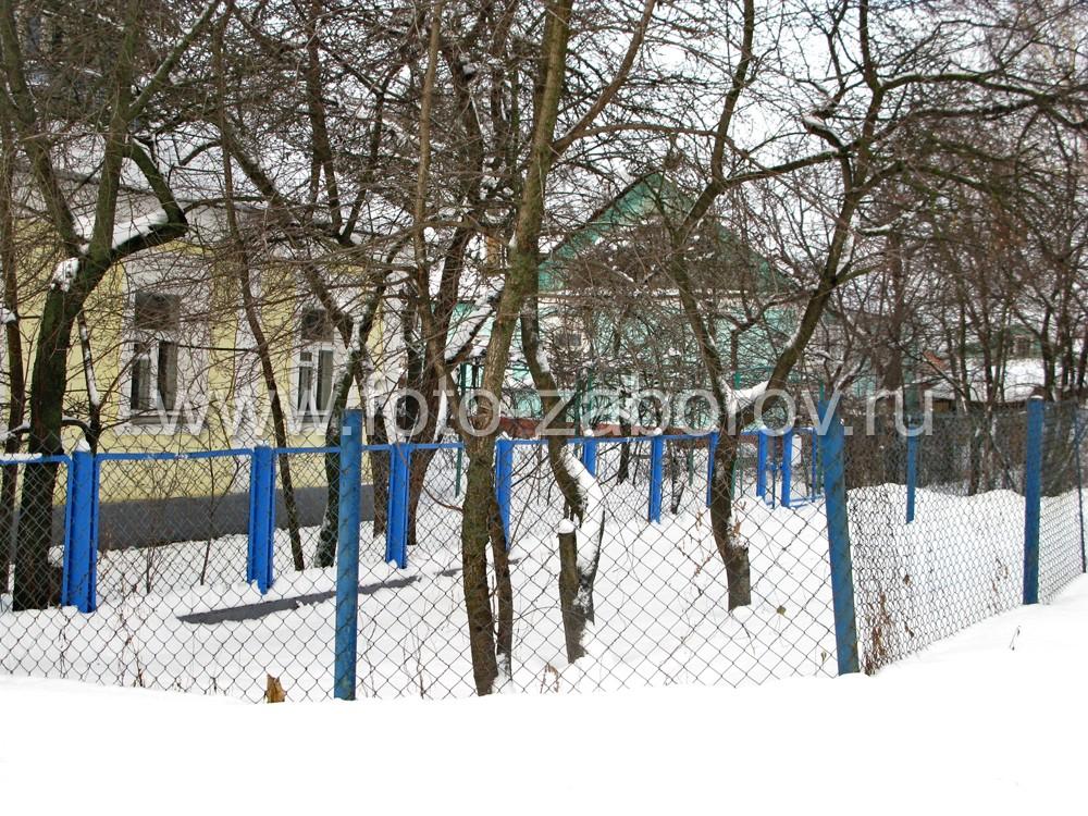 Красивая сетка-рабица для ограды