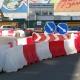 Водоналивные пластиковые ограждения при строительстве станции метро Бутырская в Москве.