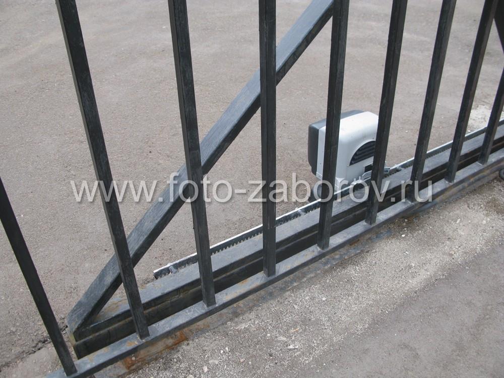 Фото противовеса откатных ворот с автоматическим
