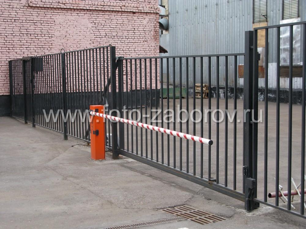 Функциональные откатные консольные ворота (с