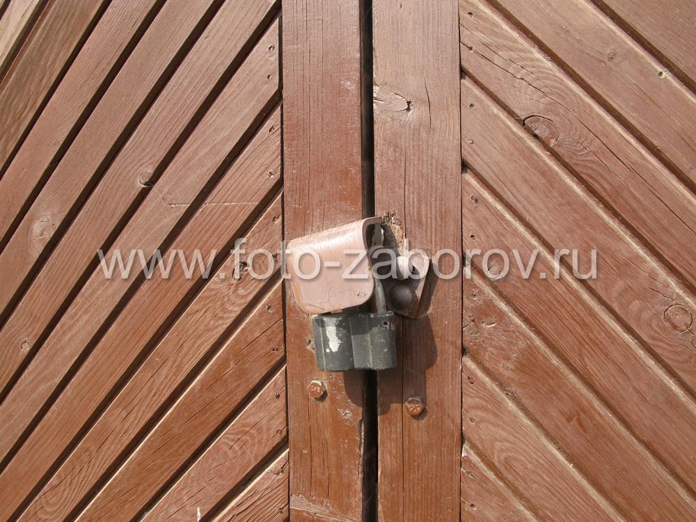 Ворота калитки из профнастила своими руками