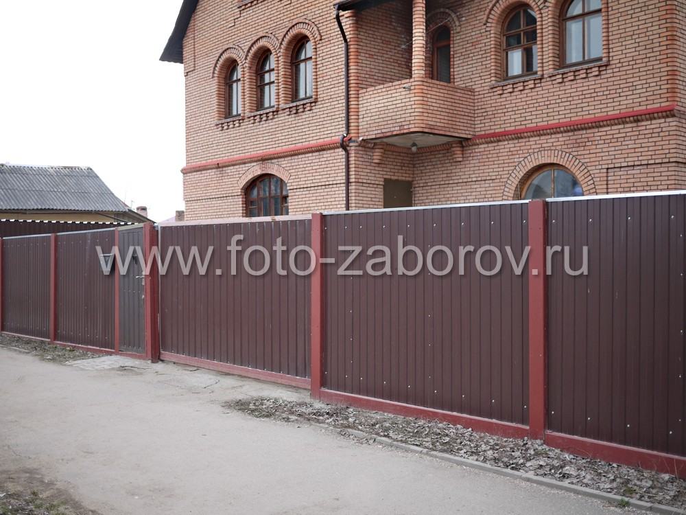 Фото Забор из профлиста цвета
