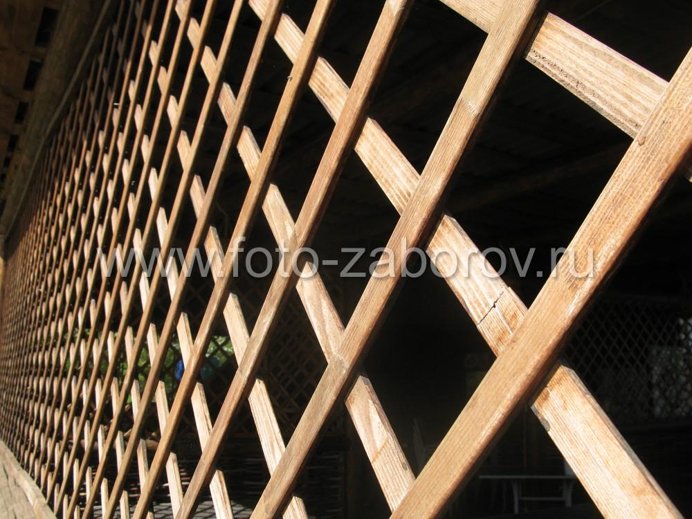 Забор из реек решетка