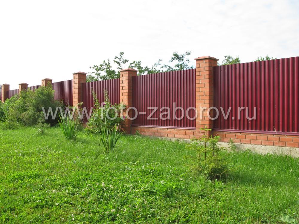 Зелёный газон перед забором содержат в достаточно аккуратном