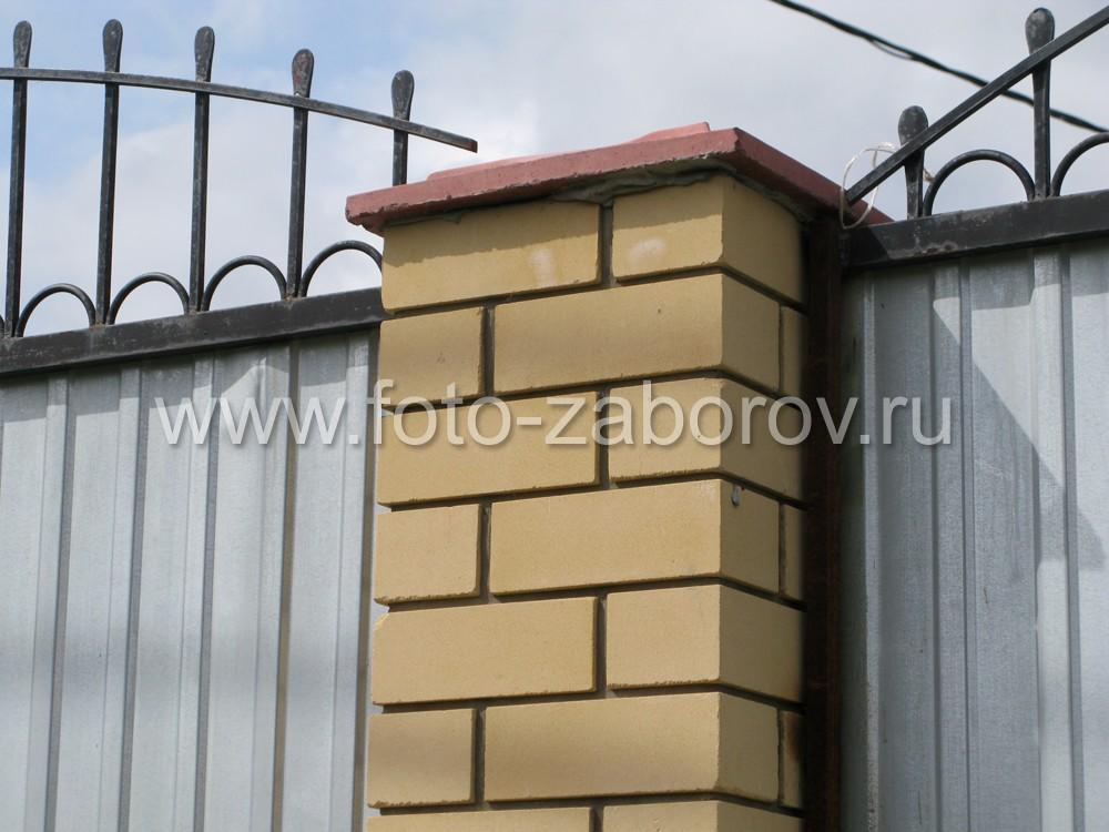 Заборные столбы в полтора кирпича