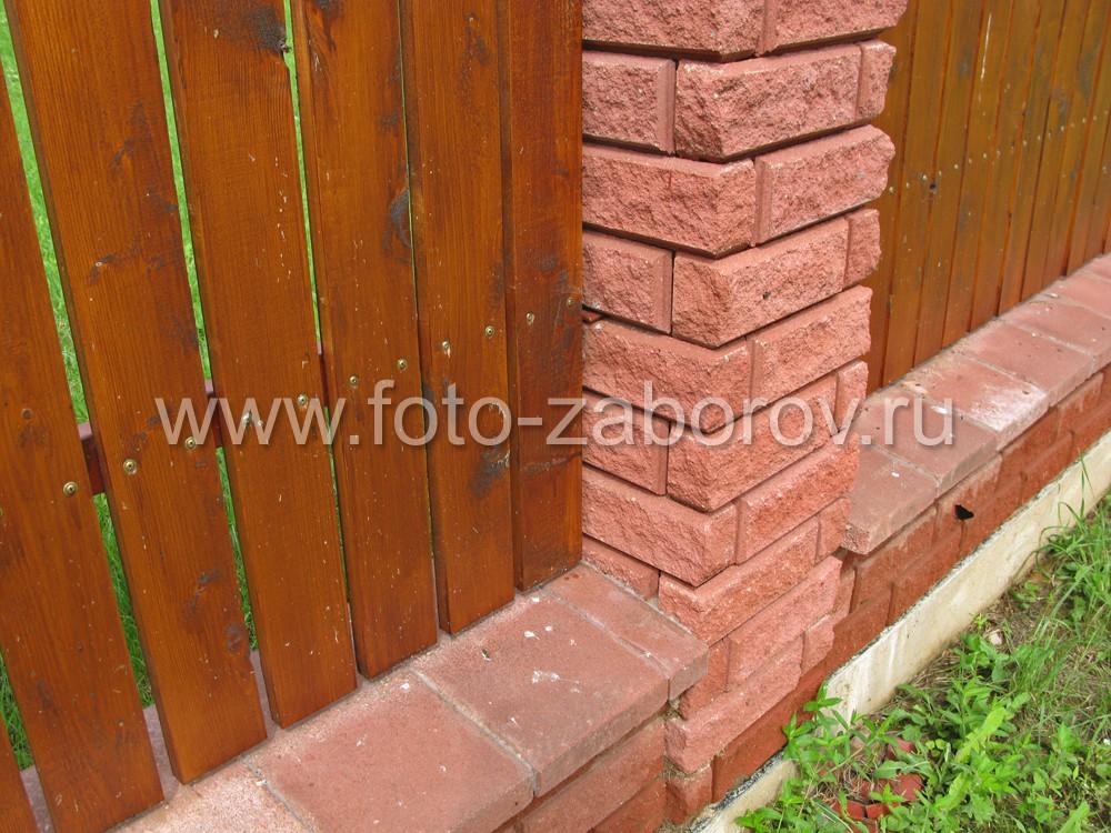 Основание кирпичного столба: цоколь с каменными