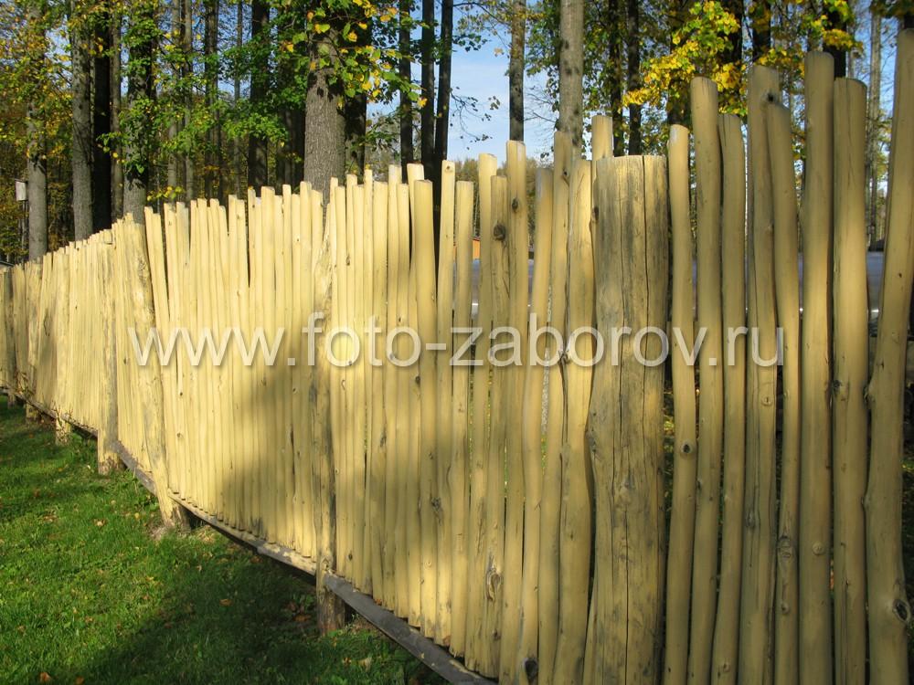 Фото красивого деревянного забора -