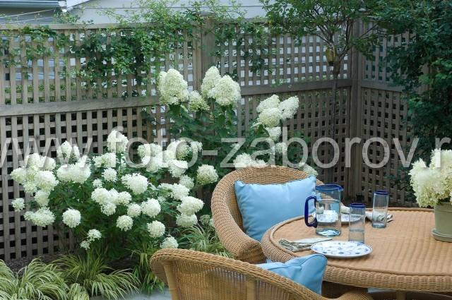 Уютная зона отдыха во внутреннем дворике: чаепитие с наслаждением в окружении цветов и