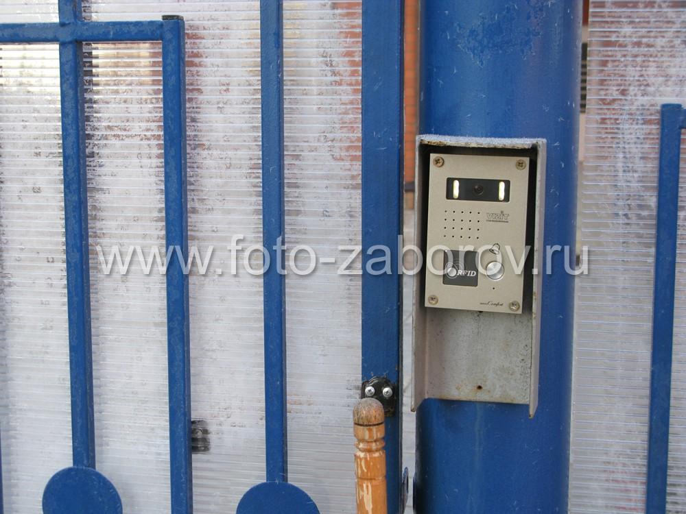 Видеофон Vizit Video Door Phone Comfort с защитным козырьком от непогоды - установка на