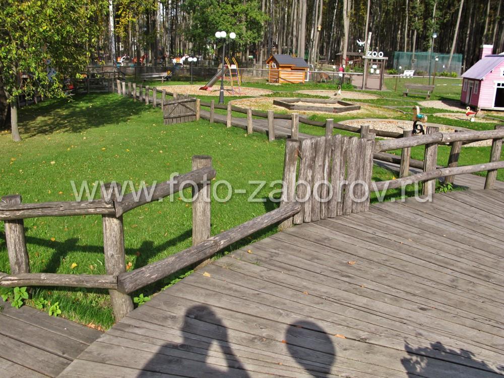 Раздолье для детей: мягкий газон, забор-лазалка, игровая площадка,