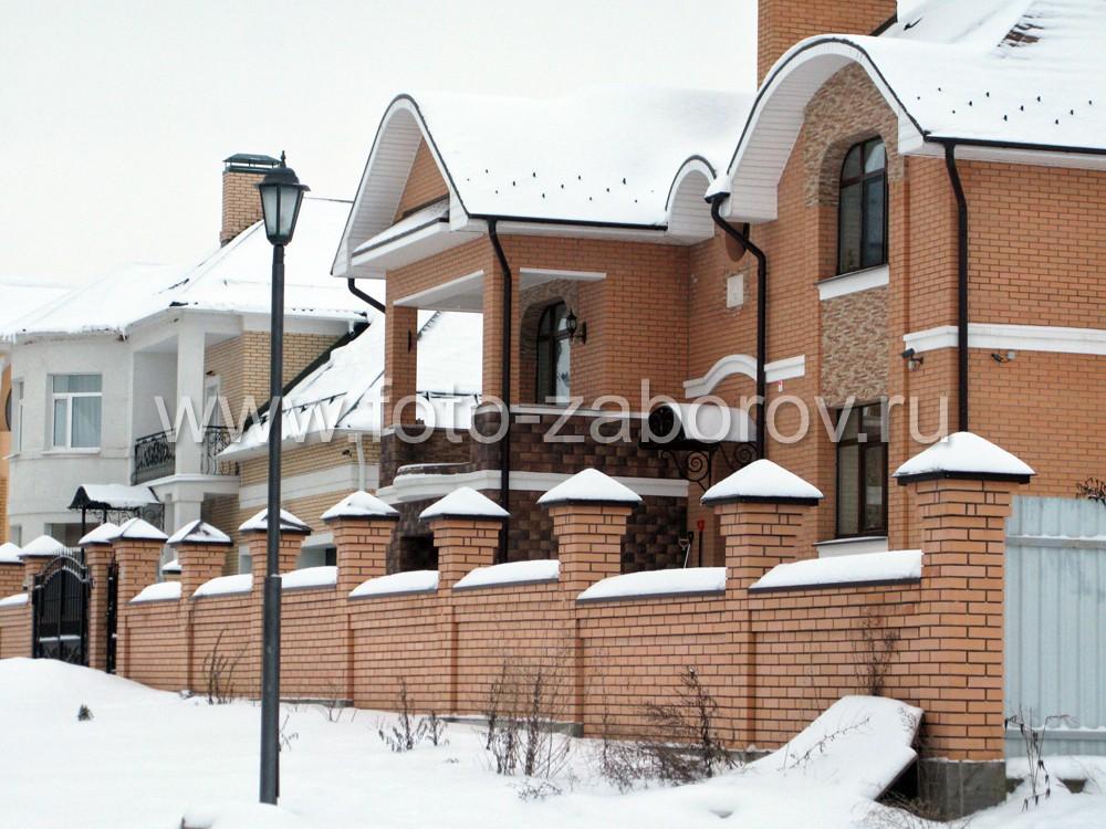 Картинка - частный дом с кирпичным
