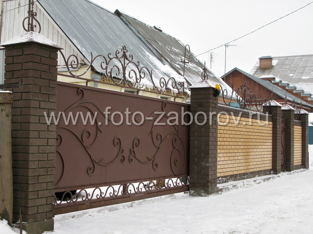 Ворота с кирпечом акции на ворота и двери