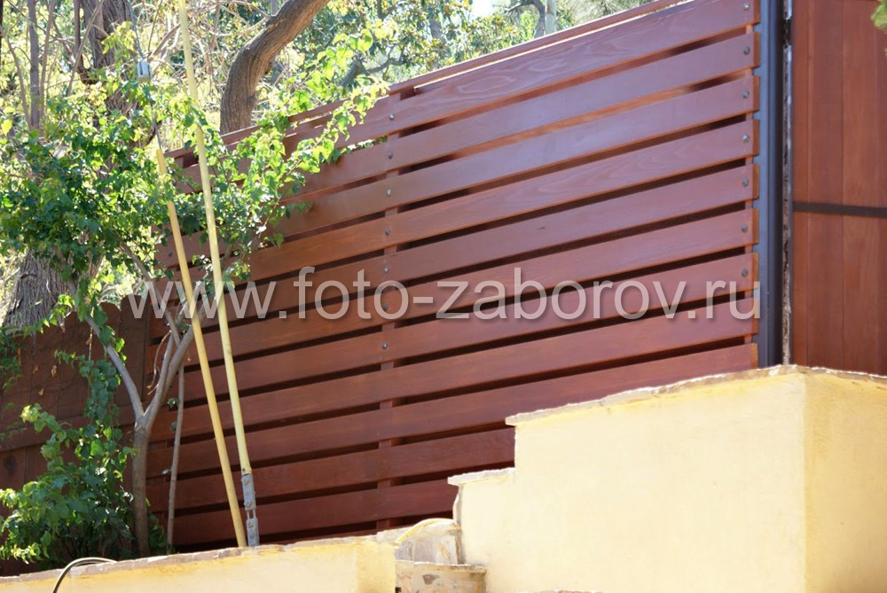 Забор из планкена на