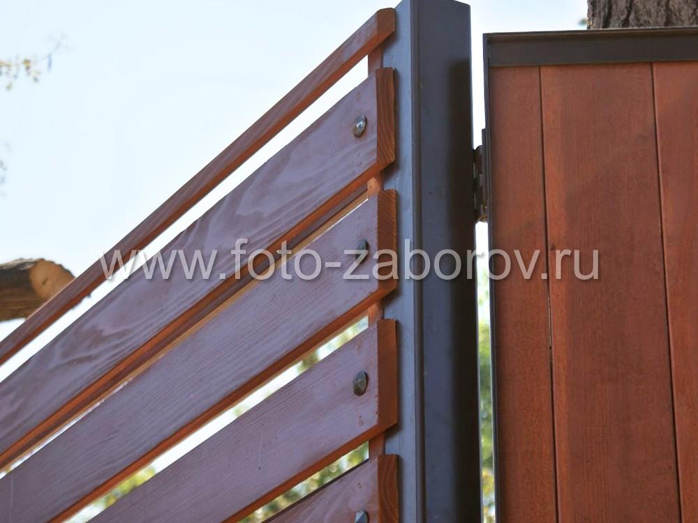 Петли для дверей - место крепления каркаса калитки со