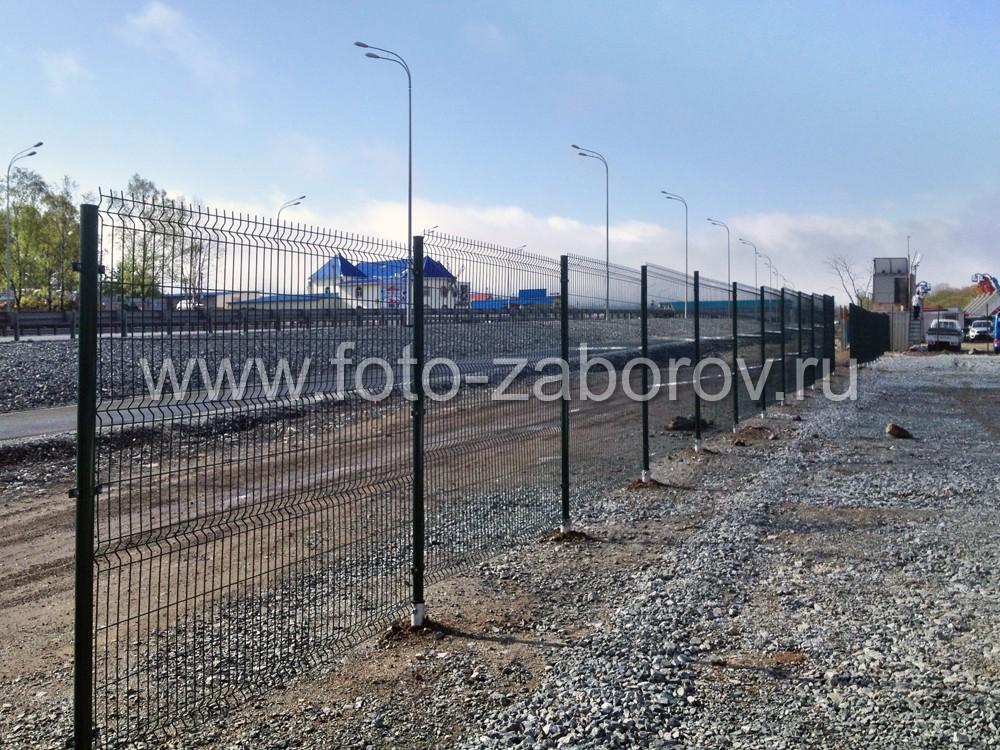 Фото ограды из сварной
