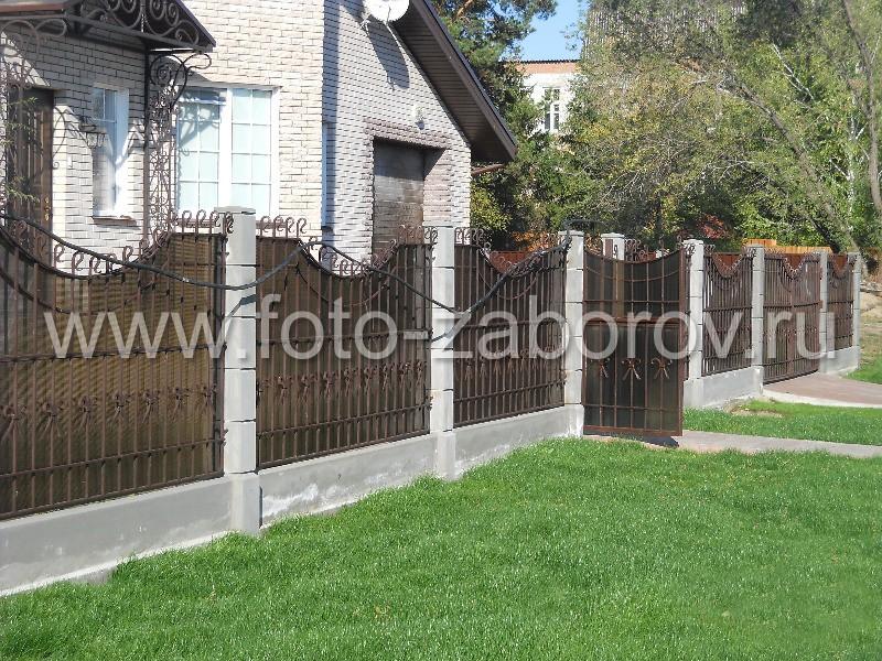 Фото Комбинированный забор с