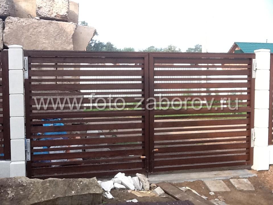 Фото распашных ворот шириной 3м с открытием, открытие во