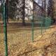 Ограждение территории Калашниковского экономического техникума, сделанное из сварной сетки марки Гранд Лайн.