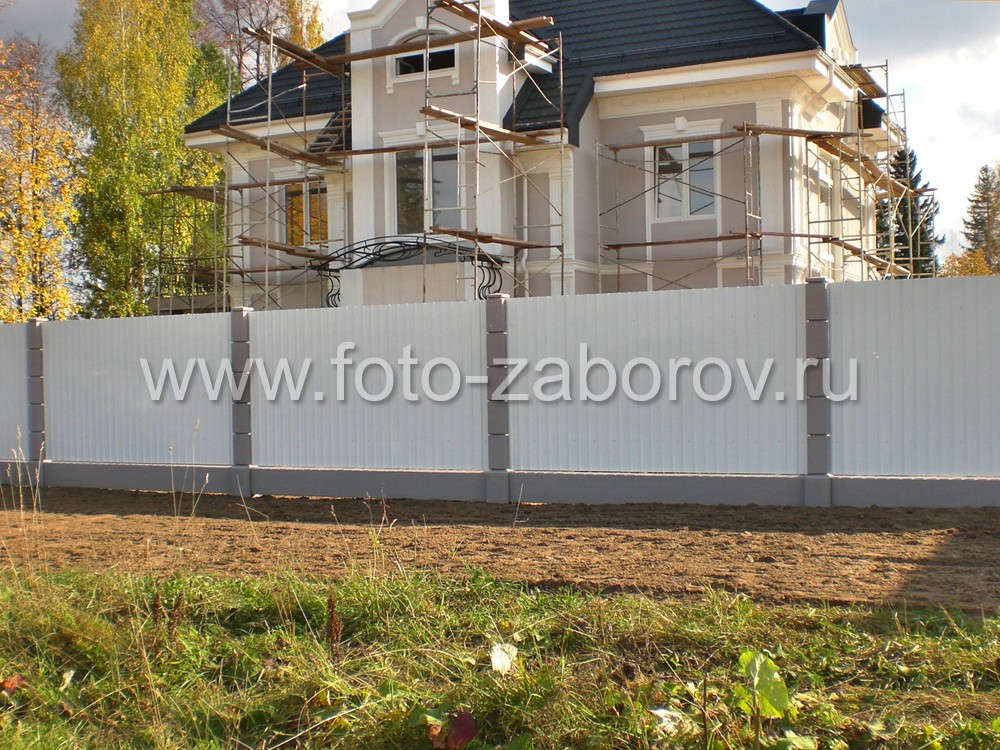 Забор белого цвета фото
