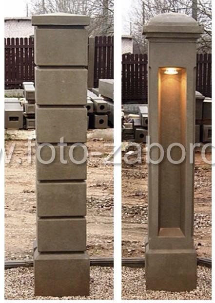 Бетонные столбы из прессованной пескобетонной смеси позволяет изготавливать  столбы самой