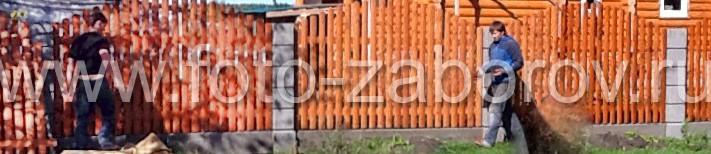 Фотография обшивки откатных ворот с внешней стороны