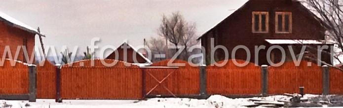 Фотография обшивки откатных ворот с внутренней стороны