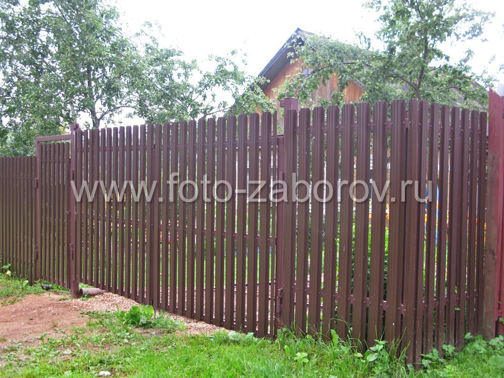 Калитка и распашные ворота с обшивкой из