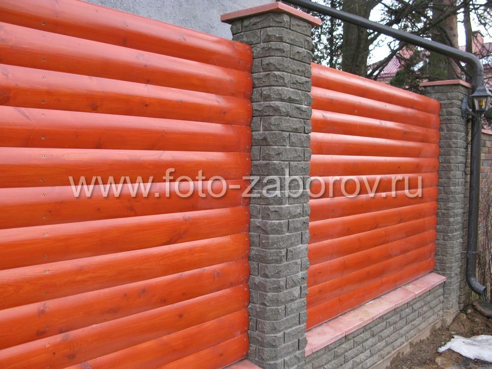 Фото блок-хауза, использованного строительства пролётов деревянного