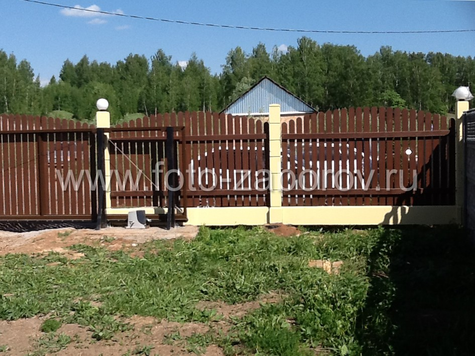 Фото Модульное ограждение частного домовладения в пригородном