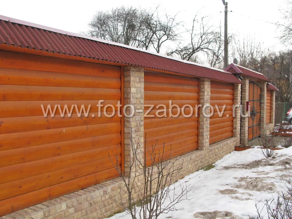 Фото Двускатная крыша для забора, ворот и калитки: надёжная защита от непогоды, красивый внешний