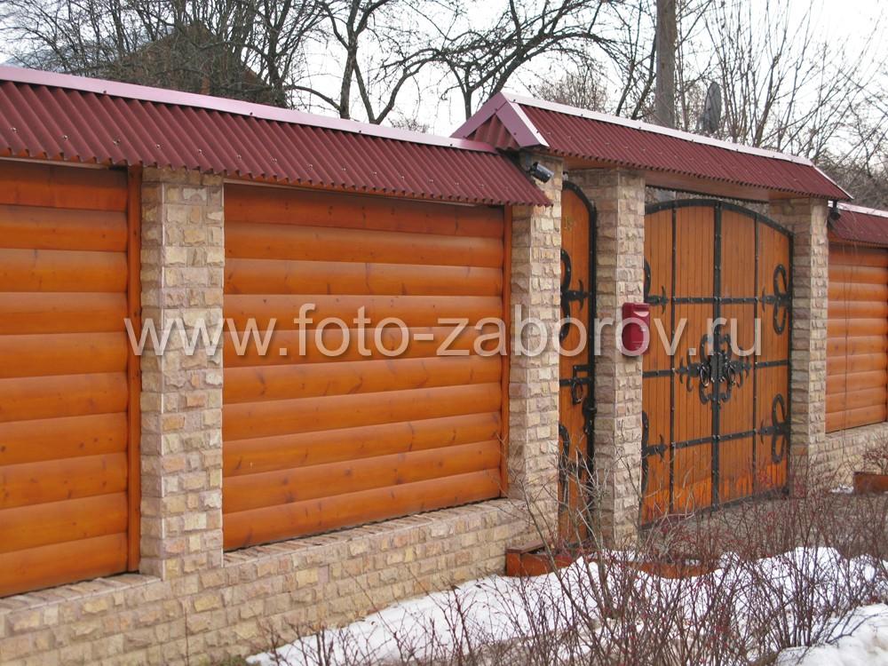 Деревянные ворота на забор