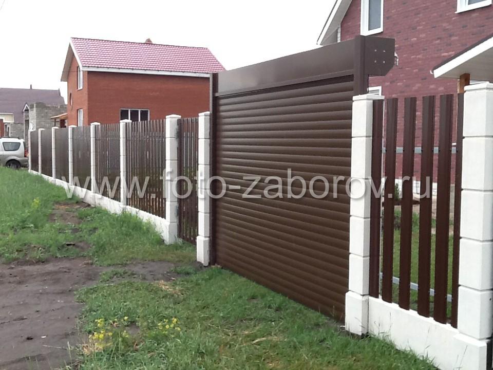 Секционные ворота-рольставни - въезд на участок. Установка рольставень по линии