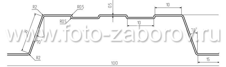 На фото - сечение штакетины Эконова. Наличие профилированной поверхности придаёт каждой штакетине