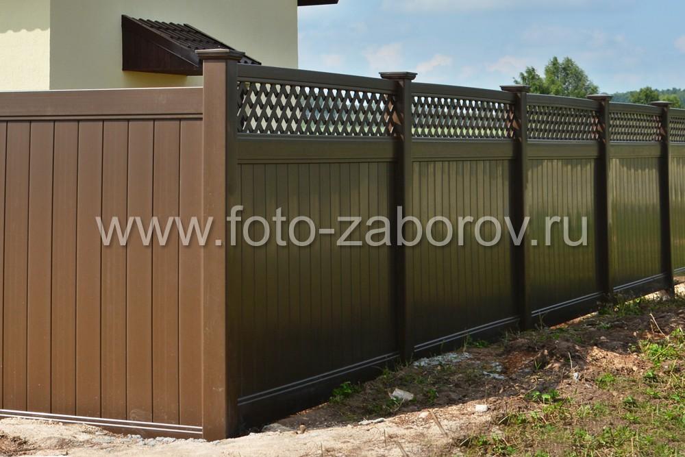 Фото Коричневый пластиковый забор серии