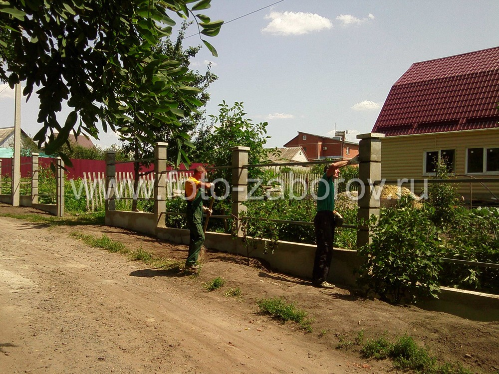Фото Забор из профнастил цвета