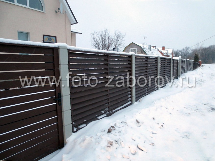 Забор, ворота, калитка, забор, ворота, забор - вот и вся