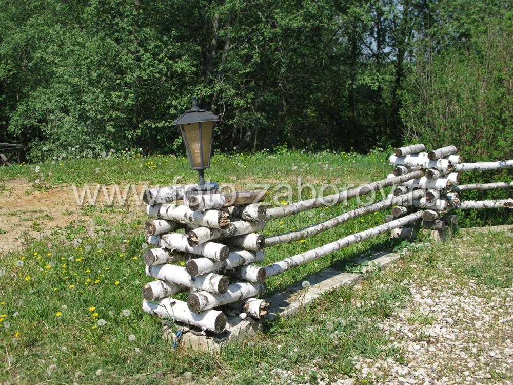 Забор из березы своими руками фото 76