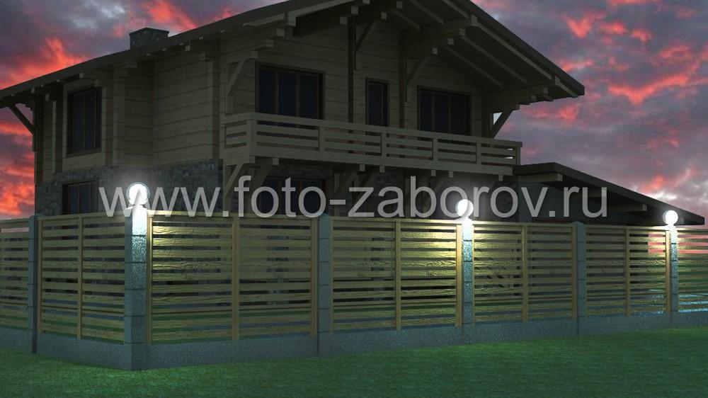 Использование одинаковых материалов и конструктивных решений для фасада дома и ограждения участка