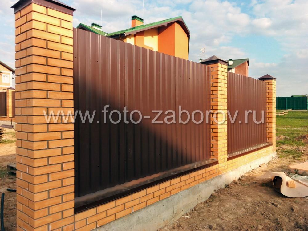 Элитный забор частного дома практически