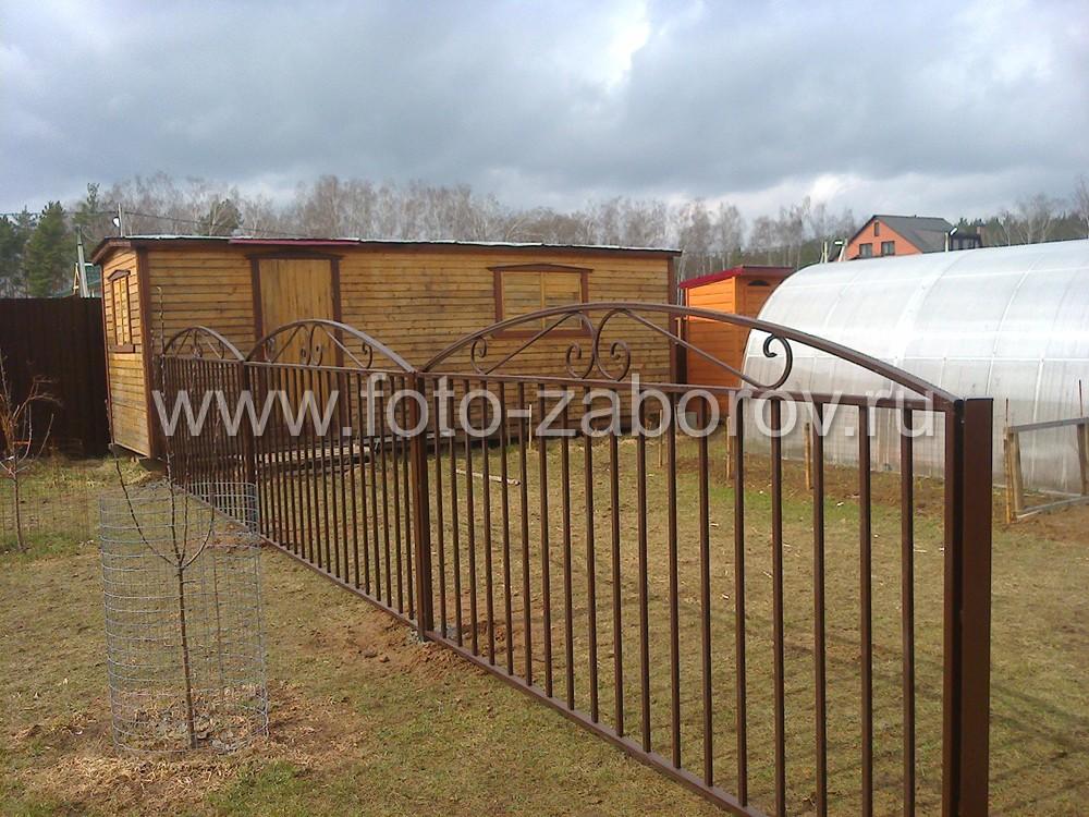 Сварной металлический забор из профильных