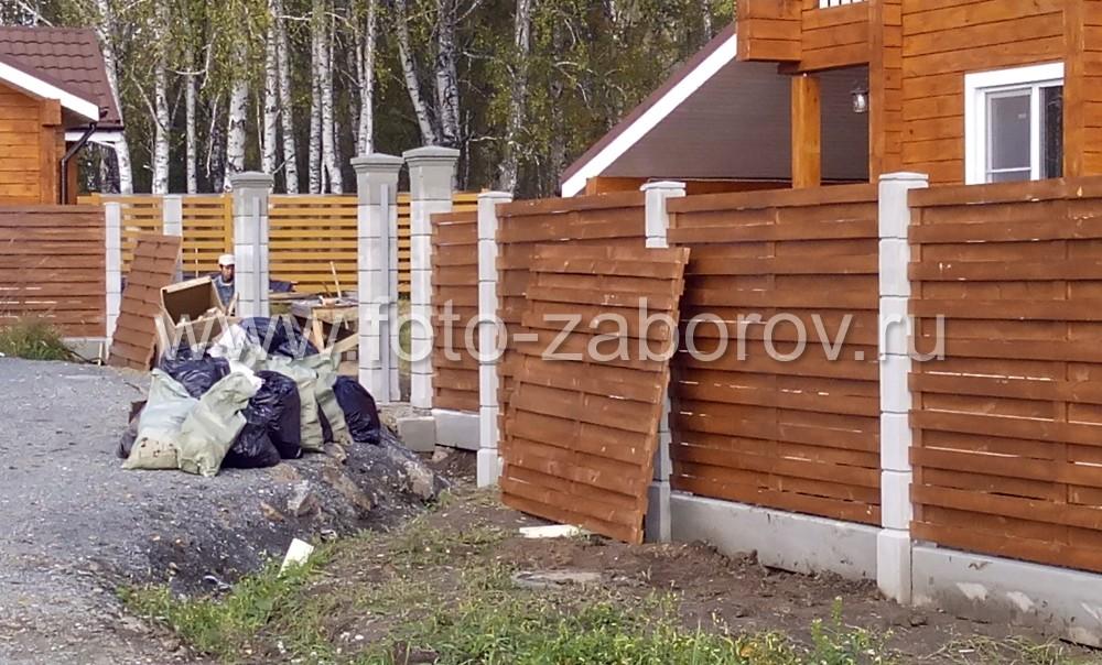 На фото видна конструкция типовой деревянного деревянной секции типа