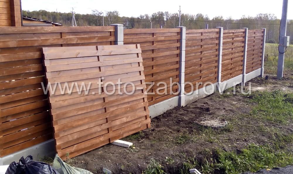 Типовая деревянная секция типа