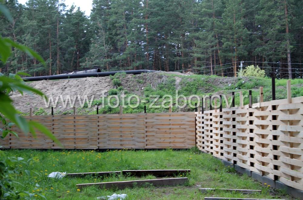 забор плетенка на сваях