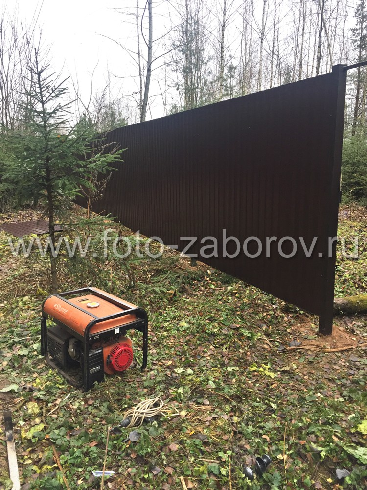 При работе на участках в условиях отсутствия электричества установщики привозят генератор