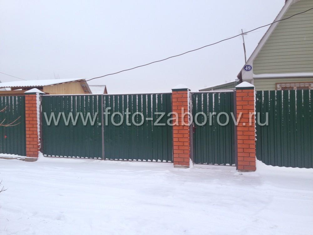 Готовый забор, фото декабря 2015