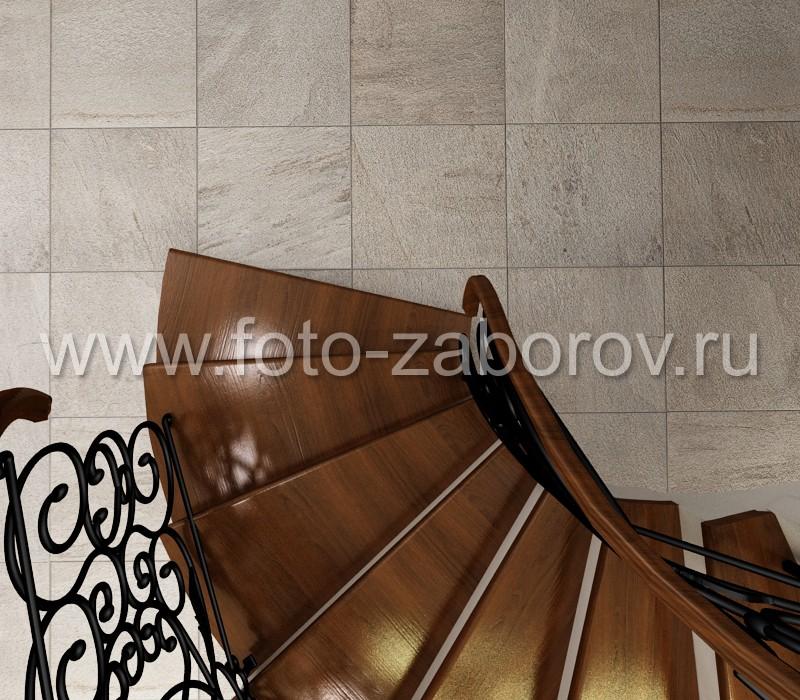Фото Спиральная полнотелая лестница, имеющая вид по образу