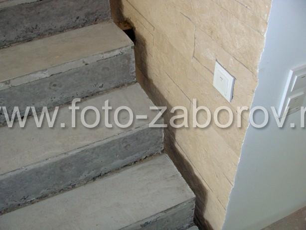 Фото С-образная бетонная лестница с фигурным