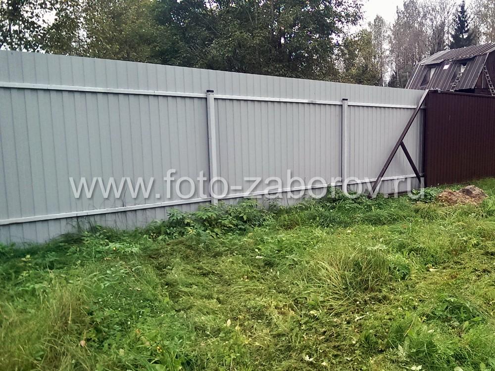 Фото 104 метра шоколадного профнастила, откатные ворота и еще один отзыв довольного